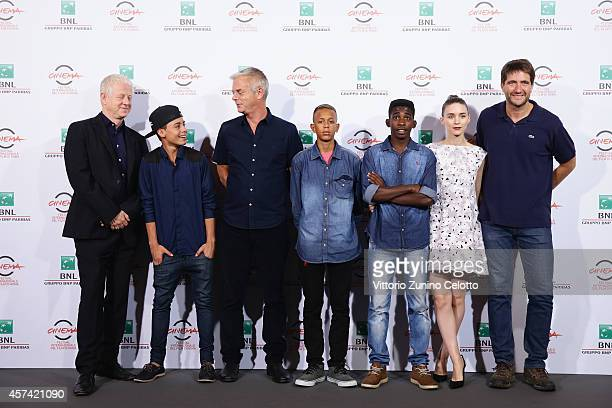 Producer Richard Curtis Gabriel Weinstein director Stephen Daldry Eduardo Luis Rickson Tevez Rooney Mara and Kris Thykier attend 'Trash' Photocall...