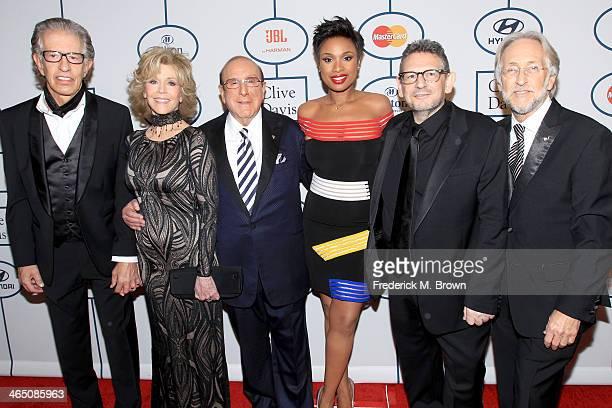 Producer Richard Perry actress Jane Fonda Sony Music Chief Creative Officer Clive Davis recording artist/actress Jennifer Hudson honoree Lucian...