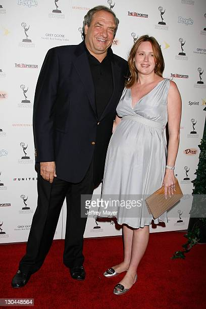 Producer Richard Wolf and wife Noelle arrive at the 59th Primetime Emmy Awards Nominees Reception at Wolfgang Puck at the Pacific Design Center on...