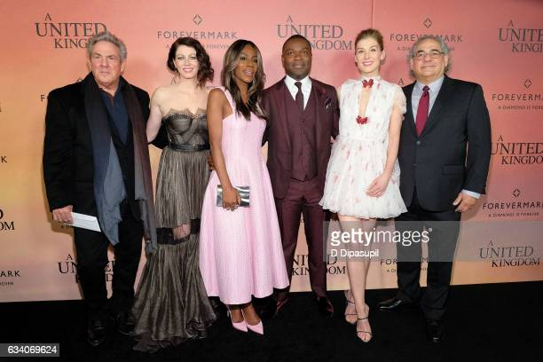 Producer Rick McCallum Jessica Oyelowo director Amma Asante David Oyelowo Rosamund Pike and Fox Searchlight Pictures copresident Stephen Gilula...