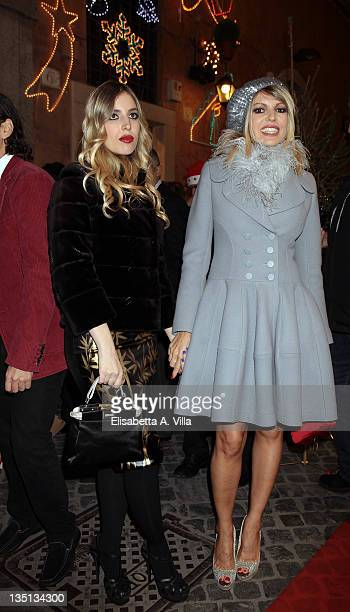 Producer Rita Rusic and her dawghter Vittoria Cecchi Gori attend the Christmas Lights Cocktail Party at the Stella McCartney boutique on December 6...