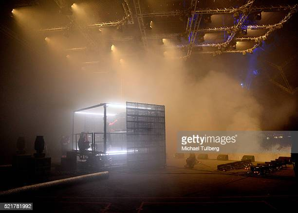 Producer RL Grime performs onstage during day 2 of the 2016 Coachella Valley Music Arts Festival Weekend 1 at the Empire Polo Club on April 16 2016...