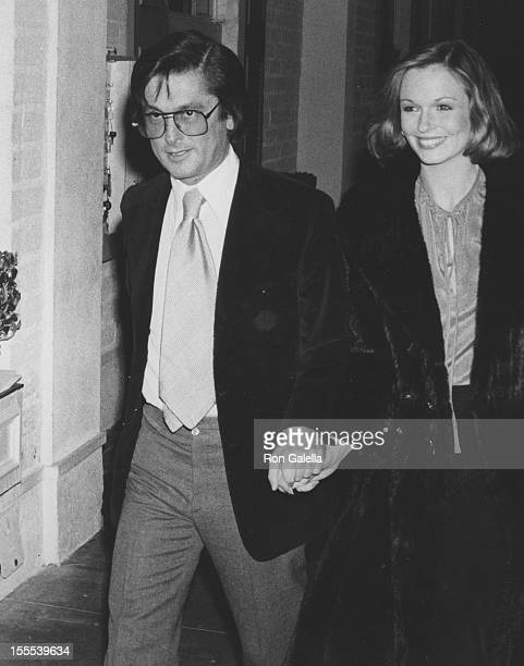 Producer Robert Evans and Phyllis George attend 25th Wedding Anniversary Party for Ronald Reagan and Nancy Reagan on March 6 1977 at Chasen's...