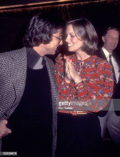 Producer Robert Evans and TV personality Phyllis George attend the 14th Annual Publicists Guild of America Awards on March 25 1977 at Bonaventure...