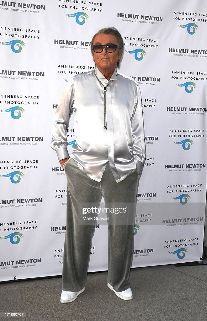 Producer Robert Evans attends the opening of Helmut