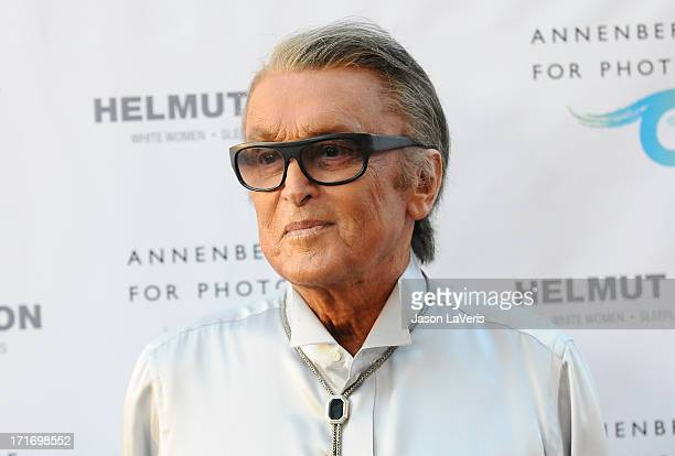 Producer Robert Evans attends the opening of Helmut Newton White Women Sleepless Nights Big Nudes at Annenberg Space For Photography on June 27 2013...