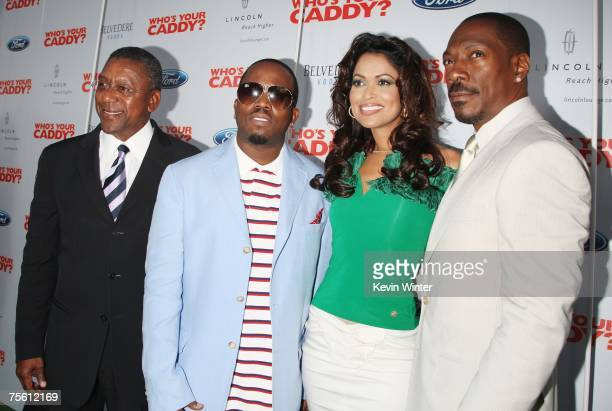 Producer Robert Johnson , actor/musician Antwan 'Big Boi' Patton, producer Tracey Edmonds and actor Eddie Murphy pose at the premiere of The...