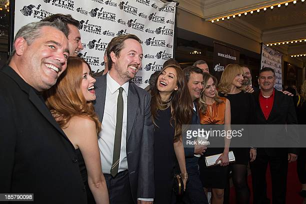 Producer Robert Mello actress Angela Gollan actor Chris Wylde actresses Noureen DeWulf Zibby Allen and Denise Grayson arrive at the world premiere of...
