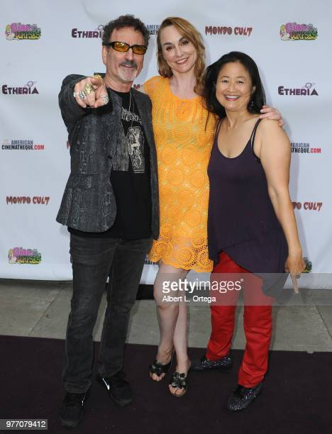 Producer Robert Rhine Program Director Heidi Honeycutt and Toy Lei arrive for the 2018 Etheria Film Night held at the Egyptian Theatre on June 16...