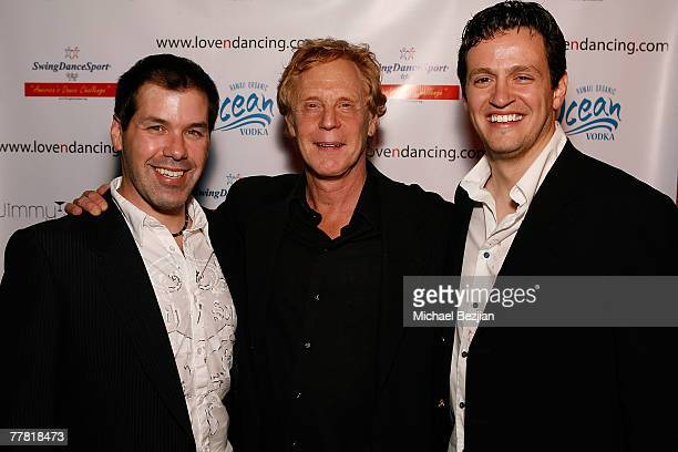 Producer Robert Royston director Robert Iscove and Tom Malloy arrive at the Love N' Dancing Cast Party at Jimmy's Lounge on November 7 2007 in...