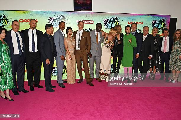 Producer Robert Suckle director David Ayer Jay Hernandez Will Smith Karen Fukuhara Joel Kinnaman Adewale AkinnuoyeAgbaje Margot Robbie Cara...
