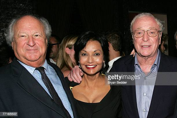 Producer Robert Zarem actor Michael Caine and his wife Shakira Baksh attend the after party for the premiere of Sleuth at the Kobe club on October 2...