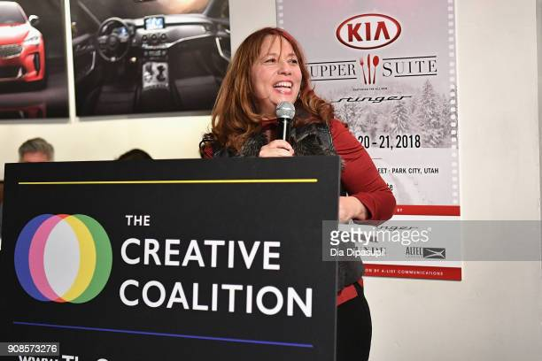 Producer Robin Bronk attends the 2018 Spotlight Initiative Awards Gala Dinner at Kia Supper Suite on January 21 2018 in Park City Utah