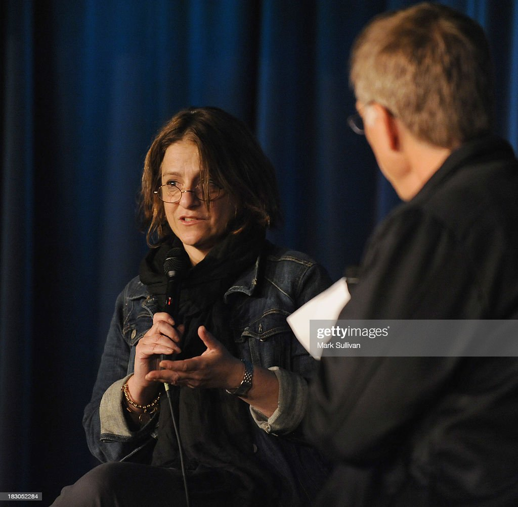 Producer Robin Klein (L) onstage during Reel to Reel: Rolling Stones 1965 Charlie Is My Darling at The GRAMMY Museum on October 3, 2013 in Los Angeles, California.