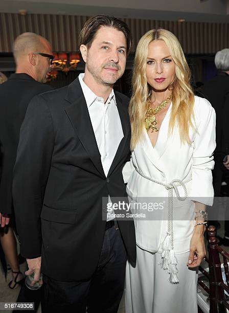 Producer Rodger Berman and designer Rachel Zoe attend The Daily Front Row 'Fashion Los Angeles Awards' 2016 at Sunset Tower Hotel on March 20 2016 in...
