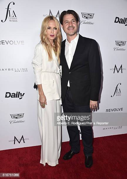 """Producer Rodger Berman and designer Rachel Zoe attend the Daily Front Row """"Fashion Los Angeles Awards"""" at Sunset Tower Hotel on March 20, 2016 in..."""