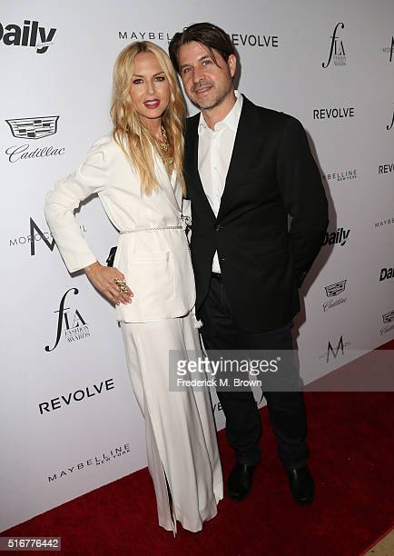 Producer Rodger Berman and designer Rachel Zoe attend the Daily Front Row Fashion Los Angeles Awards at Sunset Tower Hotel on March 20 2016 in West...