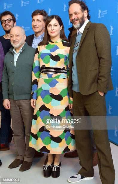 Producer Rodrigo Teixeira writer Andre Aciman producer Peter Spears actress Amira Casar and film director and screenwriter Luca Guadagnino attend the...