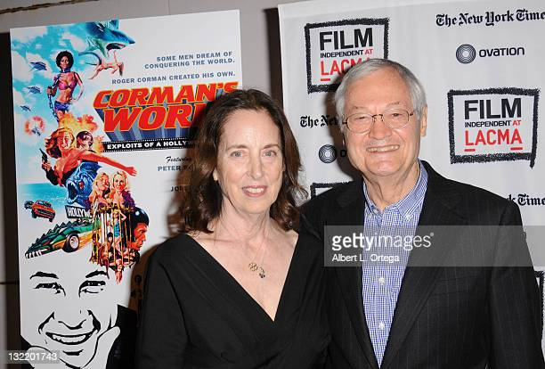 Producer Roger Corman and wife Julie Corman arrive for the Film Independent Screening Of Corman's World Exploits Of A Hollywood Rebel held at Bing...