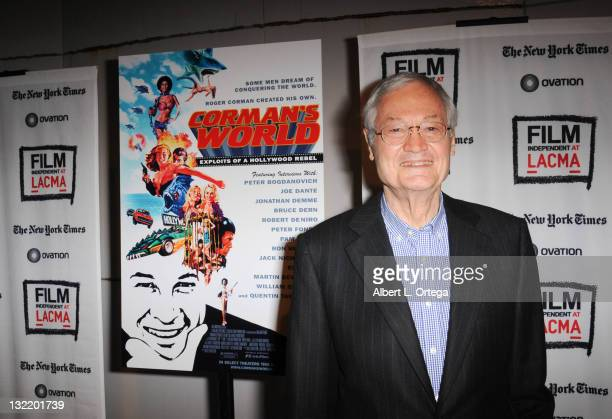 Producer Roger Corman arrives for the Film Independent Screening Of Corman's World Exploits Of A Hollywood Rebel held at Bing Theatre At LACMA on...