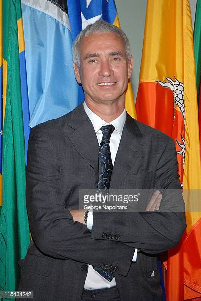 Producer Roland Emmerich arrives at the Trade Premiere at The United Nations on September 19 2007