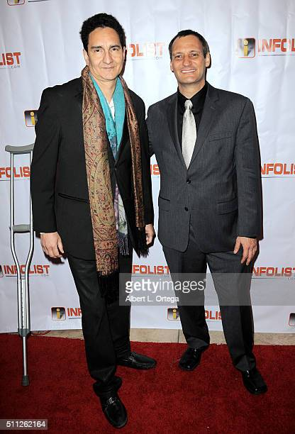 Producer Romulo Canizales and founder of InfoList Jeff Gund arrive for the InfoList PreOscar Soiree And Birthday Party for Jeff Gund held at OHM...