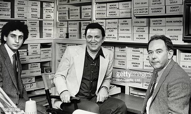 Producer Ron Galella and Robin Leach during Ron Galella Interviewed for 'Entertainment Tonight' January 7 1983 at Ron Galella's Home In Yonkers in...