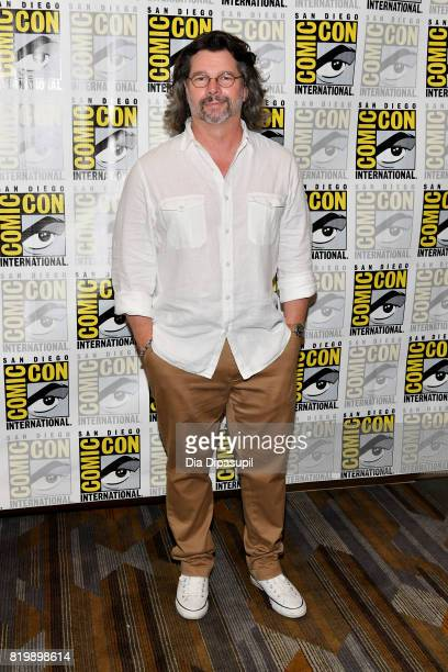 """Producer Ronald D. Moore at the """"Battlestar Galactica"""" Reunion press line during Comic-Con International 2017 at Hilton Bayfront on July 20, 2017 in..."""