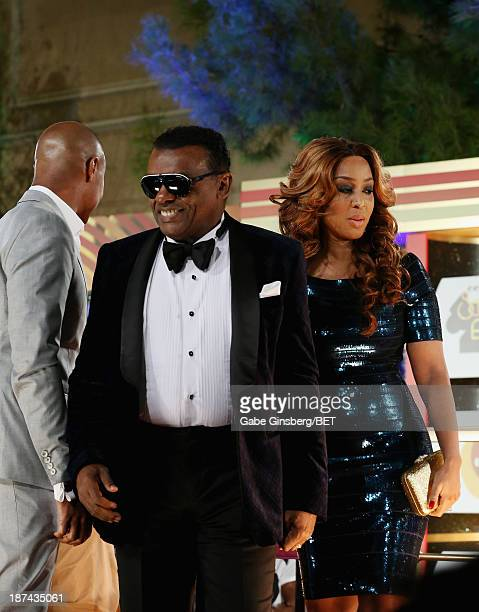 Producer Ronald Isley and Kandy Johnson Isley attend the Soul Train Awards 2013 at the Orleans Arena on November 8 2013 in Las Vegas Nevada