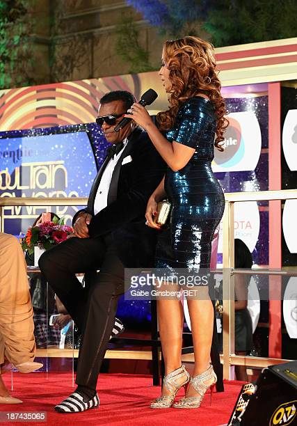 Producer Ronald Isley and Kandy Johnson Isley attend the Soul Train Awards 2013 at the Orleans Arena on November 8, 2013 in Las Vegas, Nevada.