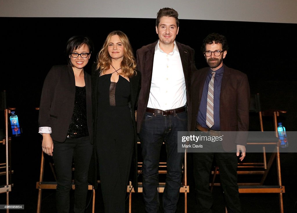 Producer Rosa Tran, actress Jennifer Jason Leigh, director/producer Duke Johnson and writer/director/producer Charlie Kaufman attend the screening and Q&A for the Paramount Pictures film 'Anomalisa' at the Egyptian Theater on November 10, 2015 in Hollywood, California.