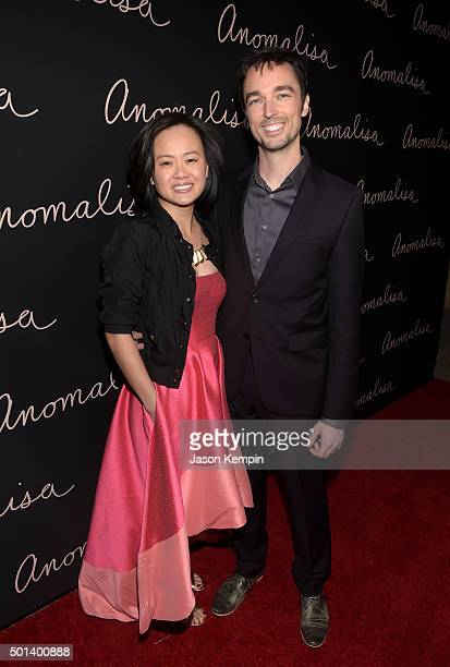 Producer Rosa Tran and Derek Smith attend the screening for the Paramount Pictures film Anomalisa at the Egyptian Theater in Hollywood on December 14...