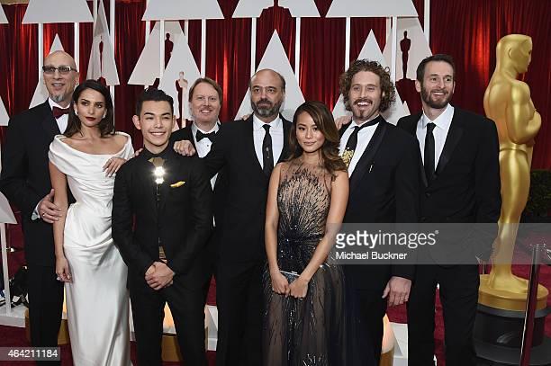 Producer Roy Conli actress Genesis Rodriguez actor Ryan Potter director Don Hall actor Scott Adsit actress Jamie Chung actor TJ Miller and director...