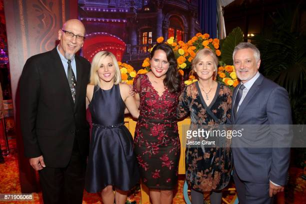 Producer Roy Conli Songwriters Elyssa Samsel and Kate Anderson Director Stevie WermersSkelton and Director Kevin Deters of 'Olaf's Frozen Adventure'...