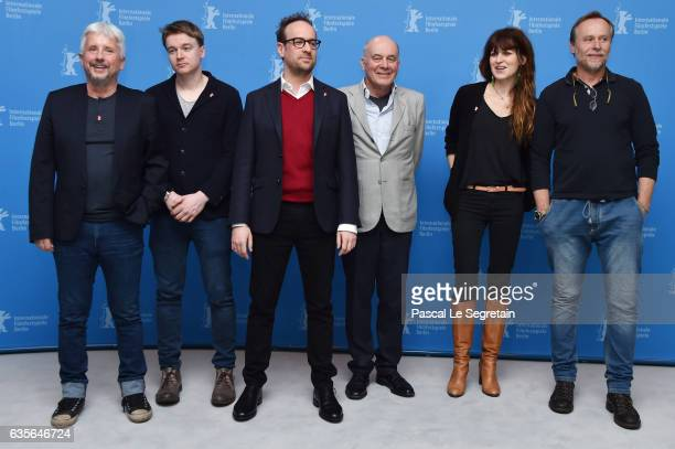 Producer Rudolf Biermann screenwriter Petr Kolecko director Julius Sevcik actors Hanns Zischler Arly Jover and Karel Roden attend the 'A Prominent...