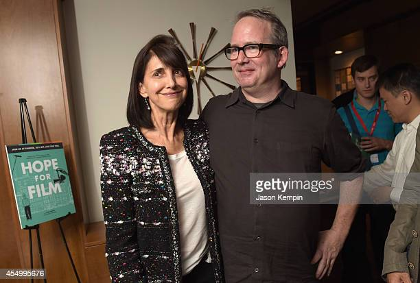 Producer Ruth Vitale and author Ted Hope attend the Creative Film Fandor party during the 2014 Toronto International Film Festival on September 8,...