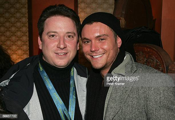 Producer Ryan Harper and actor Clayne Crawford attend the premiere party for 'Steel City' at the Volkswagen Lounge during the 2006 Sundance Film...