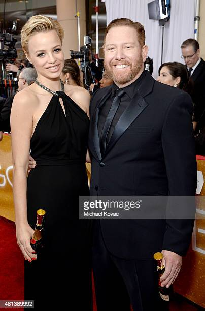 Producer Ryan Kavanaugh and Jessica Roffey attend the 72nd Annual Golden Globe Awards at The Beverly Hilton Hotel on January 11 2015 in Beverly Hills...
