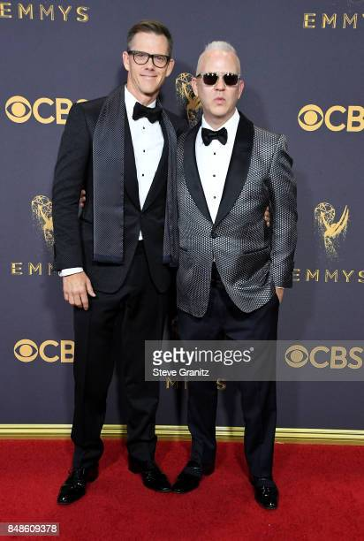 Producer Ryan Murphy and David Miller attend the 69th Annual Primetime Emmy Awards at Microsoft Theater on September 17 2017 in Los Angeles California