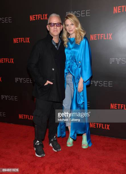 Producer Ryan Murphy and Executive Producer/Actress Brit Marling attend Netflix's The OA FYC Event at Netflix FYSee Space on June 10 2017 in Beverly...