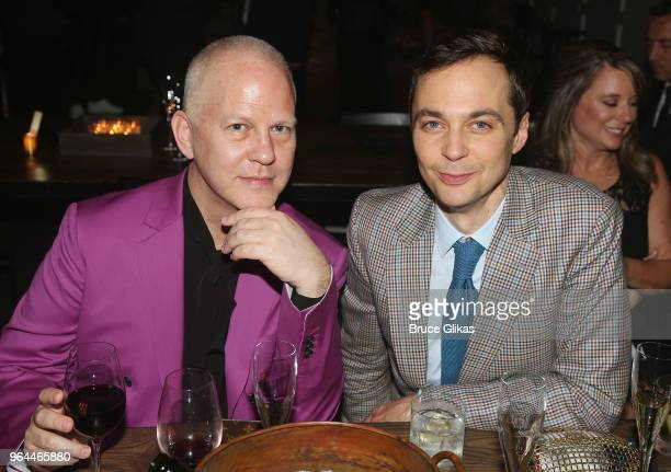 Producer Ryan Murphy and Jim Parsons pose at the opening night 50th year celebration after party for the classic play revival of The Boys In The Band...
