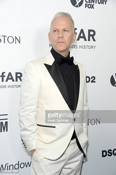 Producer Ryan Murphy arrives at the amfAR Inspiration Gala at Milk Studios on October 29, 2015 in Hollywood, California.