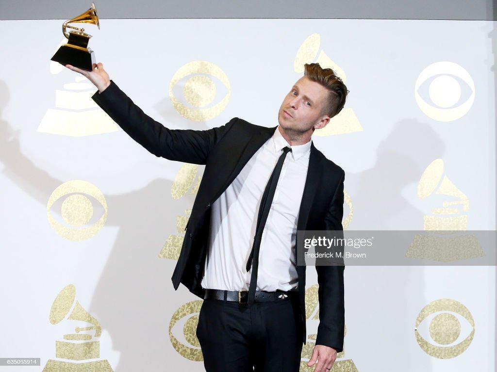 The 59th GRAMMY Awards - Press Room : News Photo
