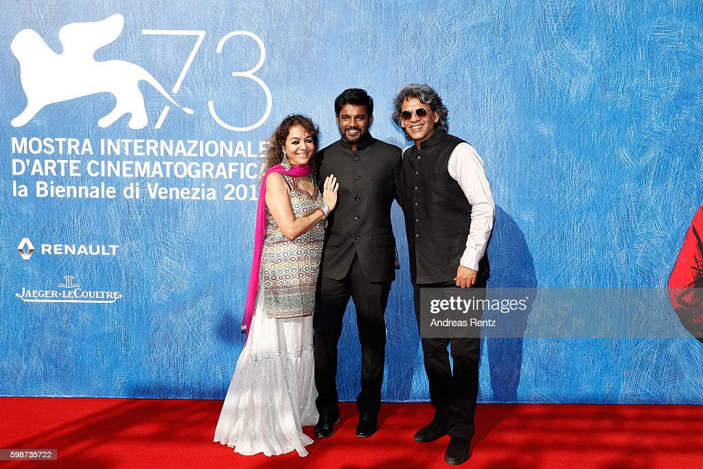 Producer Sajida Sharma, director Shubhashish Bhutiani and producer Sanjay Bhutiani attend the premiere of 'Hotel Salvation' Premiere during the 73rd Venice Film Festival at Sala Giardino on September 2, 2016 in Venice, Italy.