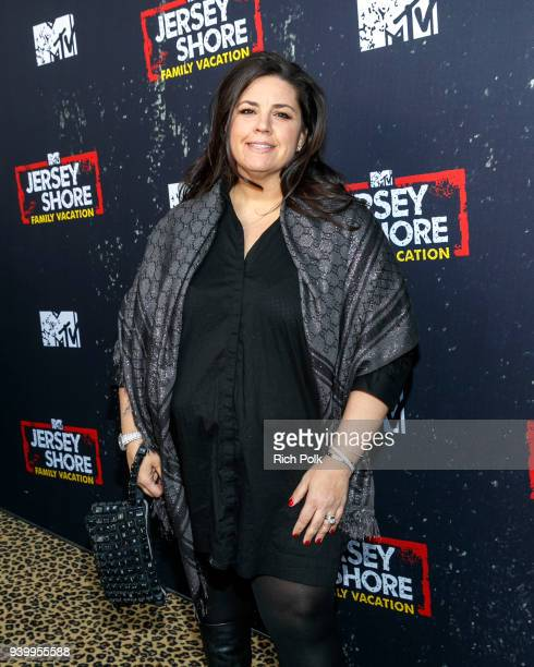 Producer SallyAnn Salsano arrives at the 'Jersey Shore Family Vacation' Premiere Party at Hyde Sunset Kitchen Cocktails on March 29 2018 in West...