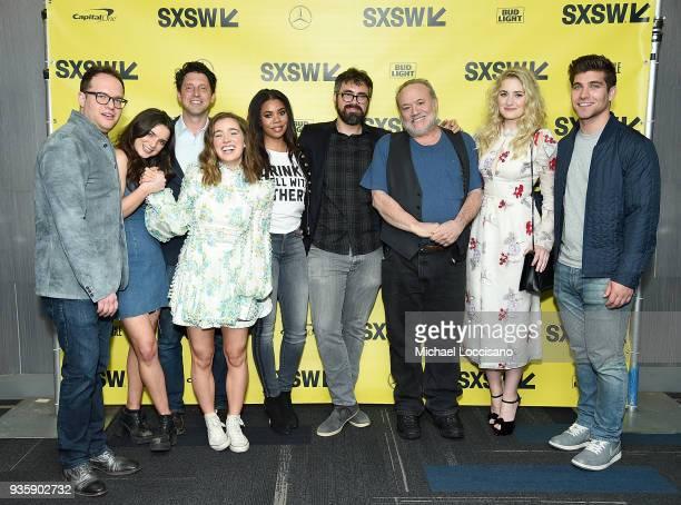 Producer Sam Slater actress Dylan Gelula producer Houston King actresses Haley Lu Richardson and Regina Hall director Andrew Bujalski cofounder of...