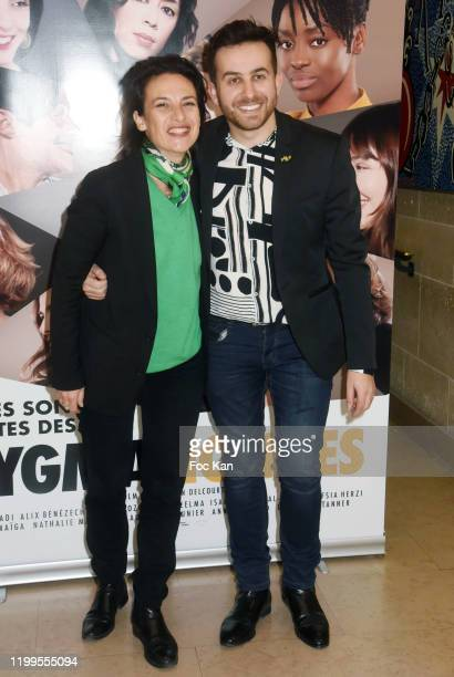 Producer Sandrine Bauer director Quentin Delcourt attend Pygmalionnes Screening at Assemblee Nationale on January 14 2020 in Paris France