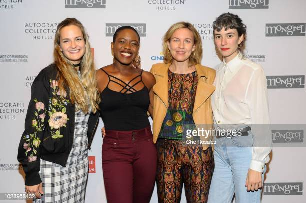 Producer Sarah Jane Inwards writer Amanda Idoko Bronwyn Cosgrave Producer Chiara Towne attend the Mongrel Media Celebrates TIFF At Mongrel House on...