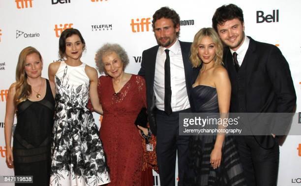 "Producer Sarah Polley, actor Rebecca Liddiard, author Margaret Atwood, actors Edward Holcroft, Sarah Gadon, and Kerr Logan attend the ""Alias Grace""..."