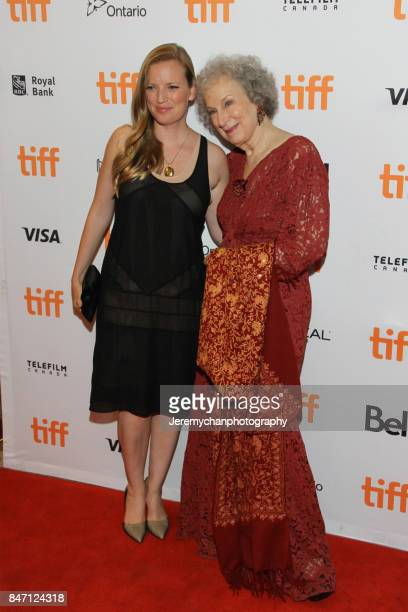 Producer Sarah Polley and author Margaret Atwood attend the 'Alias Grace' Premiere held at Winter Garden Theatre during the 2017 Toronto...